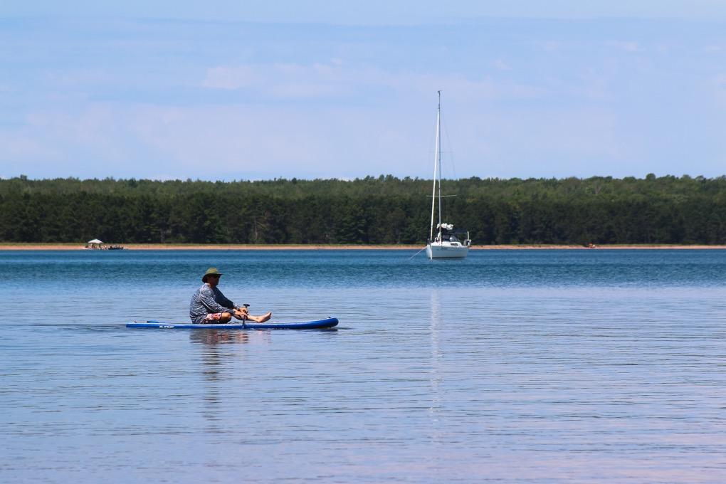 Paddle boarding at Big Bay Town Park
