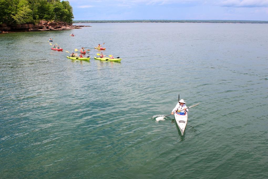 Kayaking at Big Bay State Park