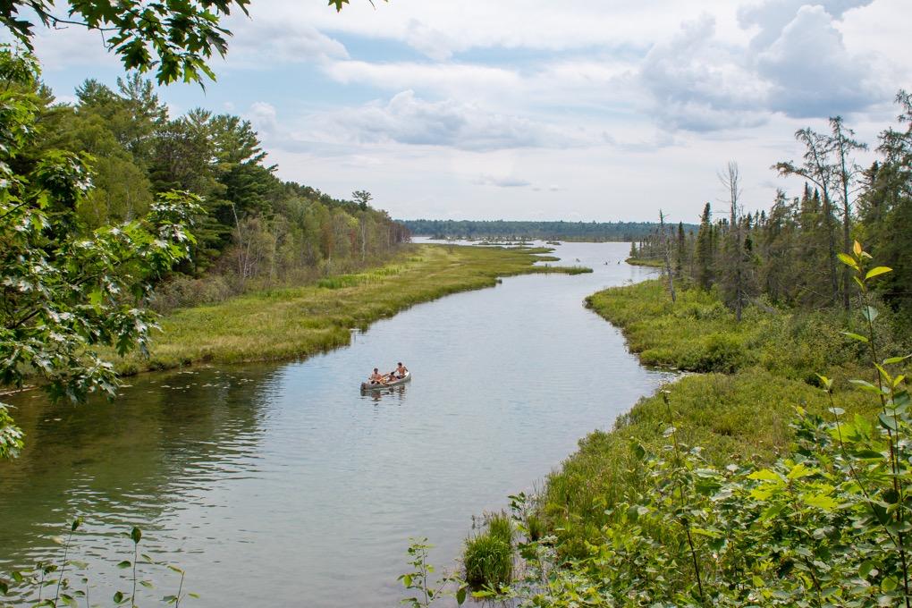 Canoeing at Big Bay Town Park Lagoon
