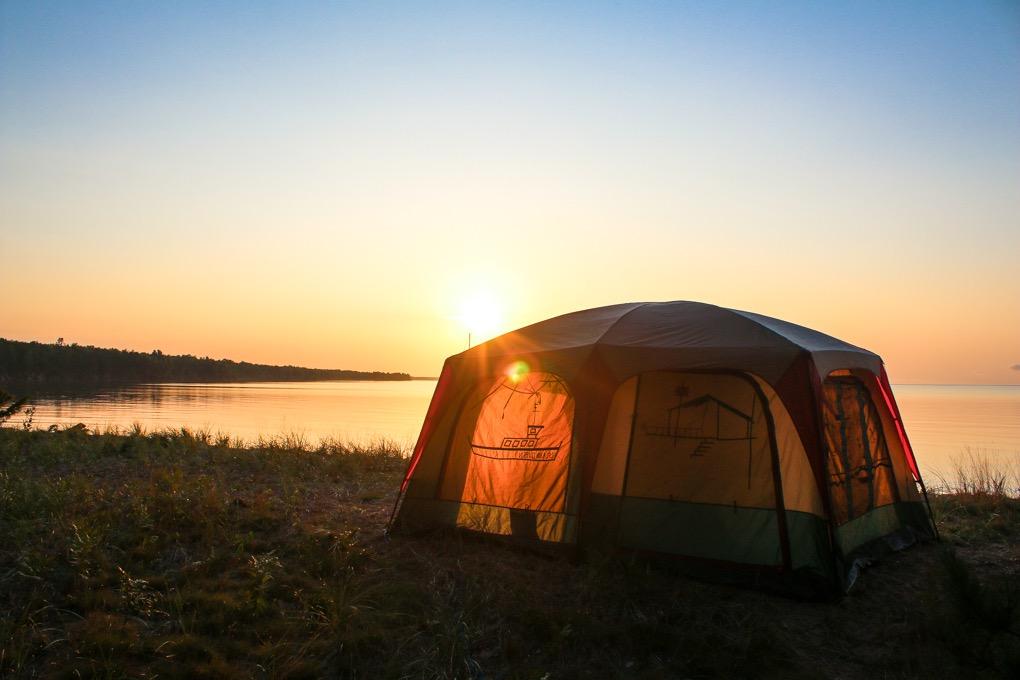 Madeline Island Shoreline and Sunset